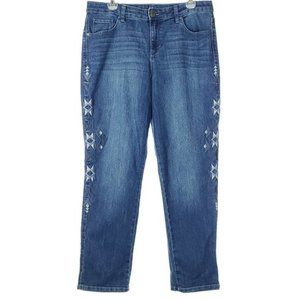 STYLE & CO Curvy Boyfriend Jeans High Rise Crop